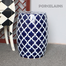 classic blue and white porcelain garden stools seat