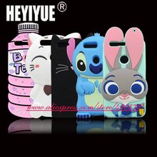 For Huawei Honor 8 Case Cute 3D Silicon Cat Stitch Cartoon Soft Phone Back Skin Cover for Huawei Honor 8 5.2 inch(China)