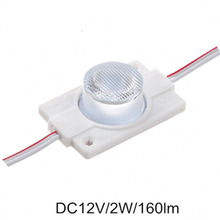 100pcs/lot 2W high power led module side lighting high power led lamps 1 led module injection lens super brightness