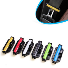 2pcs Car Safety Belt Clips Seat Belt Buckle Car Styling Safety Stopper Belt Clips Adjusting Clip Tension Adjuster For Auto 53mm(China)