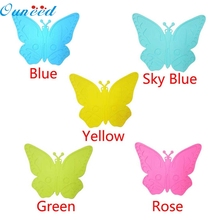 Home Wider Ouneed  High Quality Butterfly Silicone Waterproof Oil-proof Insulation Placemat oct106 Drop Shipping