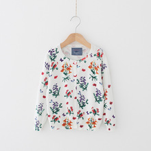 New Kids Sweaters Flower Cotton Top Air Conditioning Clothes Cute Cardigan Sweater Baby Girl Knit Clothing Girls Sweater Toddler