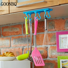 GOONBQ 1 pc Kitchen Ceiling Hook Hanging Rod Kitchen Storage Rack Wardrobe Storage Hooks Desk Cupboards Hanging  Wall Organizer