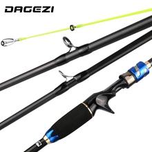 DAGEZI HY Lure Fishing Rod 1.8M/2.1M 4 Section M Power 7-20g Carbon Fiber Travel Rod Ultralight lure Rod Fishing Rods(China)