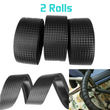 Bicycle Handlebar tape Cycling Road Bike Sports Bike Cork Handlebar Tape Black+2 Bar Plug Carbon fiber belt strap Bicycle Parts