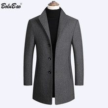 BOLUBAO Men's Wool Coats Autumn Winter High-Quality Luxurious Blends Brand New Solid