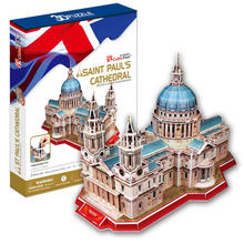 Development of intelligence,Educational toys,good quality,foam,emulational,best gifts,paper model,St Paul's cathedral,3D PUZZLE