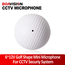 Audio pick up  Mini CCTV Microphone Golf-Shape Sound Monitor/Voice clear CS-09 for security system