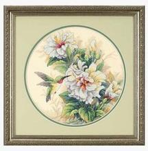 Одежда высшего качества популярны комплект Счетный крест гибискуса Duo птица колибри и цветок цветы DIM 35156(China)