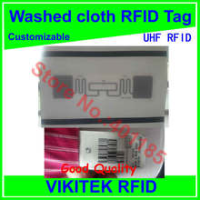 Washed cloth UHF RFID tag customizable  860-960MHZ 915M EPC C1G2 ISO18000-6C alien 9662 printable can be washed