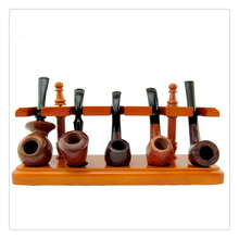 Smoker 5 Seat of Smoking Pipe Square Style Rosewood Pipe Holder Pipe Stander Best Gift for man Tobacco Pipe Stander YDJ03