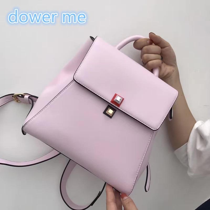 Fashion Travel Backpack 2017 Japan And South Korea Spring Summer New Retro Shoulder Bag Simple Solid Color Student <br>