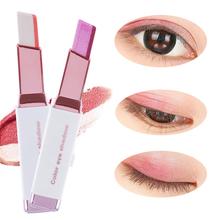 1Pc New Fashion Beauty Eye Shadow Double Color Gradient Color Velvet Makeup Pearl Eyeshadow Pen
