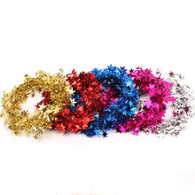 2017 New Star Pine Tinsel Garland Wreaths Headband Hair Band Women Girls Headwear Hair Accessories Christmas Tree Decorations