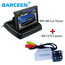 "Black car rear view system 4.3"" lcd car monitor+color hd ccd image car rear reversing camera use for Volkswagen GOLF 6/Magotan"