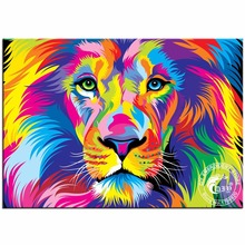 3D Diamond Painting Cross Stitch Pattern 5D Diamond Embroidery Beads The King Of Lion Mosaic Picture Resin Full Drill Home Decor