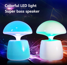 Mini With Colorful LED Computer Speakers, Laptop Speakers,USB Powered 3.5mm Jack Wired PC Speakers with Volume Control(China)