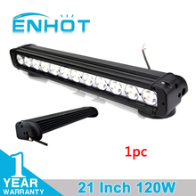 ENHOT 21'' 120W CREE CHIP OFF ROAD LED LIGHT BAR LED WORK LIGHT BAR COMBO BEAM FOR OFFROAD MARINE BOAT CAMPING 4x4 ATV UTV USE(China)