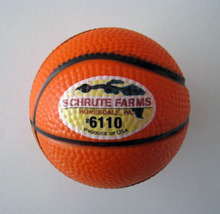 6.3cm dia custom pu foam material pu basketball stressball, basketball toy,promotion gifts,in printing your logo 50pcs/lot(China)