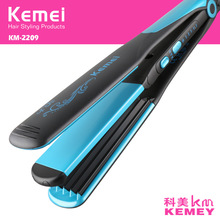 Z059 110-240V kemei hair straightener professional 2 in 1 ionic straightening iron & curler styling tool curling irons