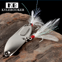 Buy Hyperbola Sequins Lure Spoon Metal spinner spoon Artificial Bait hard Fake baits feather hooks Culter perch Fishing lure for $1.49 in AliExpress store