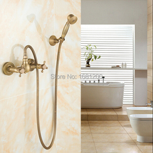 Free Shipping Antique Brass Bathroom Hand Shower Sets Shower Faucet Exposed Shower valve Mixer faucet  HJ-6670