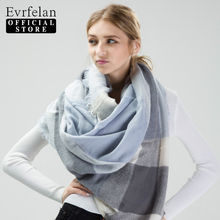 Evrfelan 2017 New Fashion Autumn Winter Warm Scarf Female Plaid Blanket Hijab Women Scarves Shawl Ladies Scarf Bandana Poncho(China)
