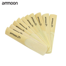ammoon 10pcs 2.5 2-1/2 for bB Tenor Saxophone Sax Bamboo Reeds Woodwind Instrument Parts & Accessories
