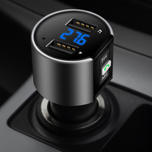 Wireless Bluetooth Car FM Transmitter Modulator LED Digital Auto Music Player Dual USB Car charger Handsfree car accessories(China)