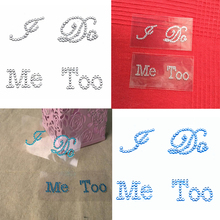 Funny 1Set I Do&Me Too Clear Rhinestones Decoration Wedding Shoe Stickers Wedding Decoration