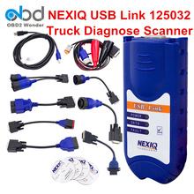 2017 Full Set Nexiq USB Link 125032 Truck Diagnostic Tool Full Software & Cables Diesel OBDII Diagnostic Scanner No Bluetooth(China)