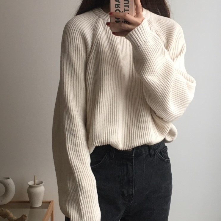 Korean Fashion Ladies Full Sleeve Women Knitting Sweater Solid O-Neck Pullover And Jumper Loose Sweater Hot Sale S809Q 11