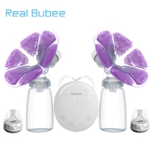 Double Electric breast pumps electric Powerful Nipple Suction USB Electric Breast Pump with baby milk two bottle