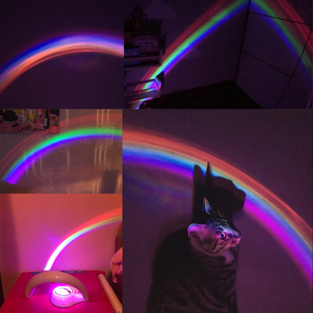 Package Included: 1 X LED Lucky Rainbow ProjectorLight