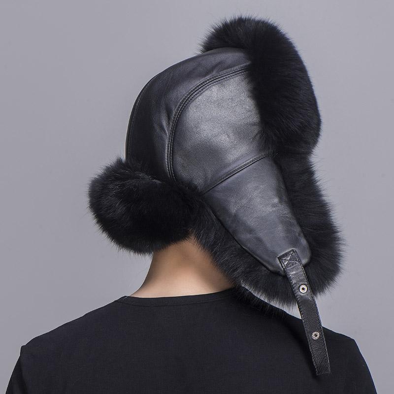 big fur hat black fox fur 6