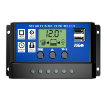 10A 20A 30A 12V/24V LCD PWM Voltage Solar Controller Battery PV cell panel charger Regulator Lamp 100W 200W 300W 400W 500W