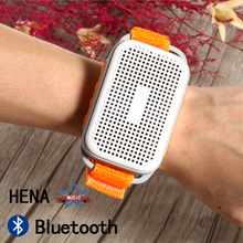 HENA Selfie stick mobile phone bracelet wristband bluetooth speakers waterproof mini Outdoor Sport Bluetooth Speaker support TF