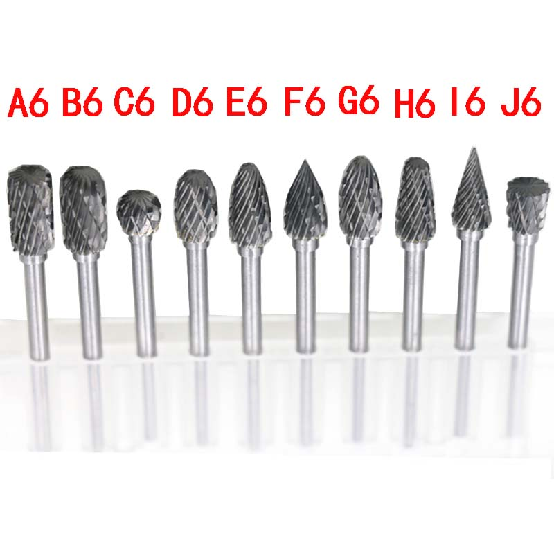 Hot Sale 10pc 1/8 Shank Tungsten Carbide Milling Cutter Rotary Tool Double Diamond Cut Rotary Tools Electric Grinding<br><br>Aliexpress
