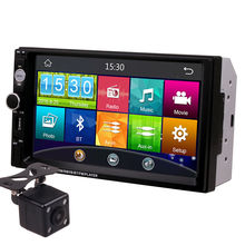7 Inch Touch Screen 2Din Universal 12V 24V Car Truck Bus Van In Dash Bluetooth Radio MP3 MP4 MP5 Media Player Head Unit Stereos(China)