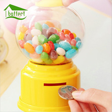 Cute Sweets Mini Candy Machine Bubble Gumball Dispenser Piggy Bank Coin Bank Money Saving Box Home Decor Figurines Gift For Kids(China)