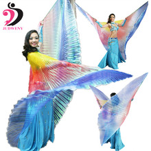 Belly Dance Wings for Kids Girls Adults Dance Wear Costume Isis Colorful Wings Butterfly Oriental Design Wings No Sticks(China)