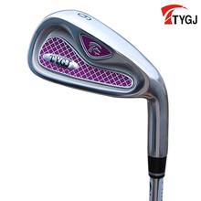 Brand TTYGJ. Single 6 IRON for women beginner.made for females 6iron golf club steel or carbon shaft. golf club #6(China)