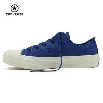 NUEVA Converse Chuck Taylor All Star II de los hombres bajos de las mujeres zapatillas de deporte zapatos de lona Zapatos de Skate de color puro Clásico 150149C