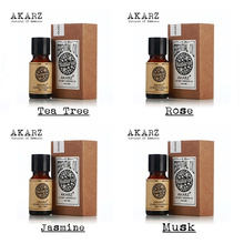 AKARZ Famous brand 100% Pure Jasmine  tea tree  Musk  rose Essential Oils Pack For Aromatherapy, Massage,Spa, Bath 4pcs/lot