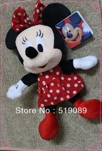 Free Shipping 1pcs Minnie Mouse Plush Animal Toys,28cm Minnie Plush Dolls For Christmas Gifts,kids gifts(China)