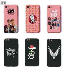 youtube celebrity jake paul cheap cell phone covers for iPhone 6 7 plus 5 5s se soft Silicone logan paul martinez twins case