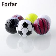 Forfar Set 6PCs Novelty Assorted Champion Sports Golf Balls Joke Fathers Day Best Present Rubber(China)