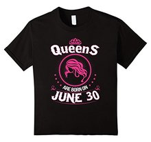 2017 Latest T Shirt Fashion Gildan Queens Are Born On June 30 Birthday Short Comfort Soft Crew Neck Shirt For Women