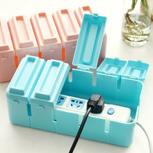 Power Desktop storage box case clamshell heat storage box electronic power cord drag strip cable management