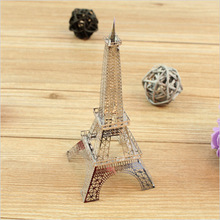 DIY 3D Puzzle Metal Earth 3D Laser Model 3D Jigsaws DIY Gift Eiffel Tower / Big Ben / Tower of Pisa / Wing Fighter Model